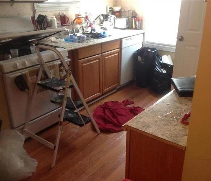 Water damage in Kitchen in home of Hazel Park, Mi Before