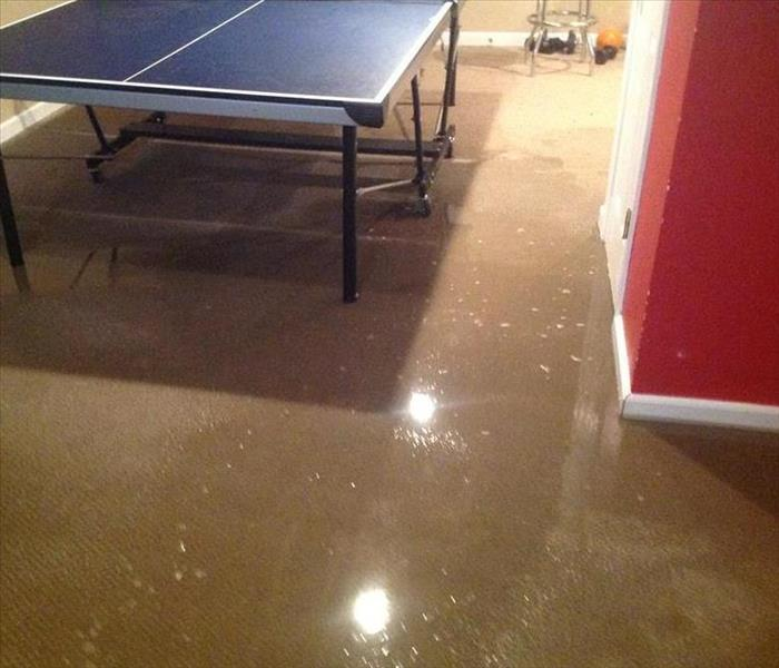 Flood in Finished Basement