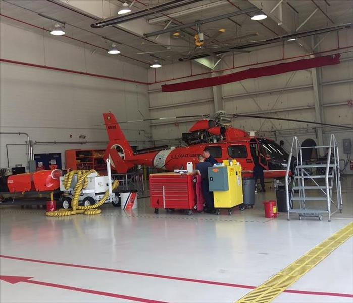 SERVPRO contracted to clean U.S Coast Guard Maintenance Hangar